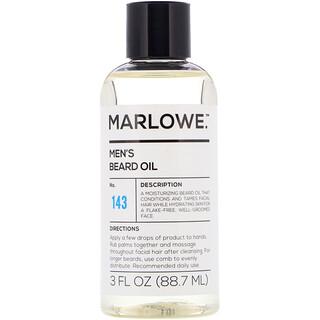 Marlowe, Men's Beard Oil, No. 143, 3 fl oz (88.7 ml)