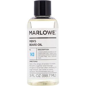 Marlowe, Men's Beard Oil, No. 143, 3 fl oz (88.7 ml) отзывы