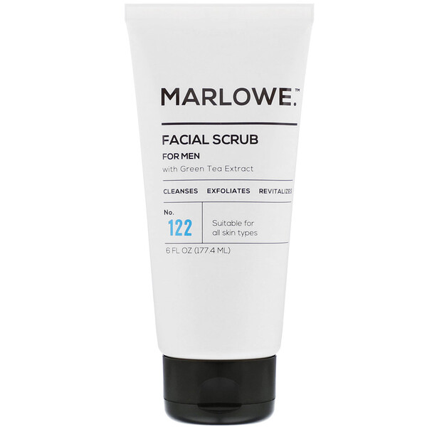Marlowe, Facial Scrub For Men, No. 122, 6 fl oz (177.4 ml)