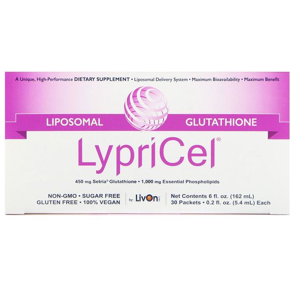 LypriCel, Липосомальный глуютатион GSH, 30 упаковок, 5,4 мл (0,2 жидкие унции) каждая (Discontinued Item)