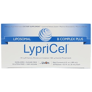 LypriCel, Liposomal B Complex Plus, 30 Packets, 0.2 fl oz (6 ml) Each
