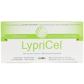 LypriCel, Liposomal, Acetyl L-Carnitine, 30 Packets, 0.2 fl oz (5.7 ml) Each
