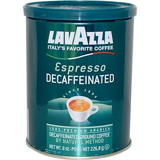 LavAzza Premium Coffees, Decaffeinated Ground Coffee, Espresso, 8 oz (226.8 g)