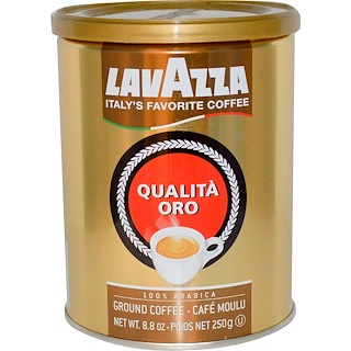 LavAzza Premium Coffees, Qualità Oro, Ground Coffee, 8.8 oz (250 g)