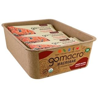 GoMacro, Macrobar, جنة البروتين , كراميل الكاجو , 12 لوحا, 2.1 أونصة (60 غ) لكل منها