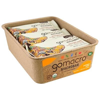 GoMacro Macrobar,增強動力,香蕉+杏仁醬,12條,2.3盎司(65克)