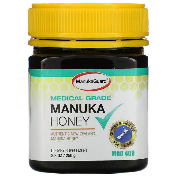 ManukaGuard, Manuka Honey, Medical Grade, MGO 400, 8.8 oz (250 g)