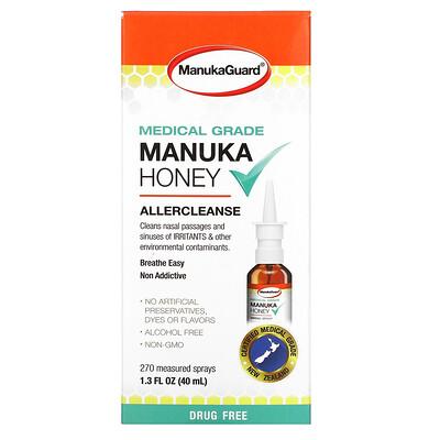 Купить ManukaGuard Manuka Honey, Medical Grade, Allercleanse, 1.3 fl oz ( 40 ml)