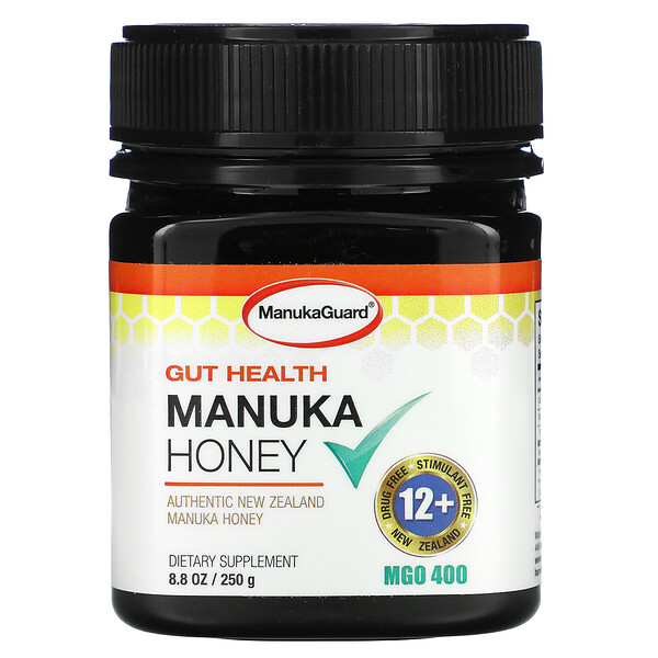 Gut Health, Manuka Honey, 400 MGO, 8.8 oz (250 g)