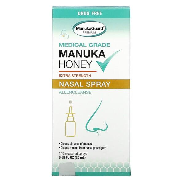 Manuka Honey, Medical Grade  Extra Strength Nasal Spray, 0.65 fl oz ( 20 ml)