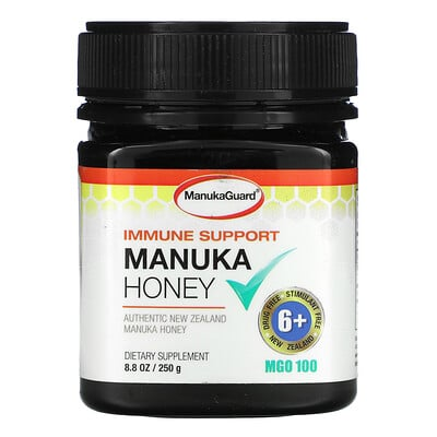 ManukaGuard Immune Support, Manuka Honey, MGO 400, 8.8 oz ( 250 g)  - купить со скидкой