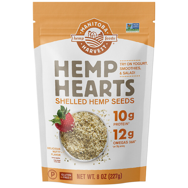 Manitoba Harvest, Hemp Hearts, Shelled Hemp Seeds, Delicious Nutty Flavor, 8 oz (227 g)