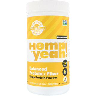 Manitoba Harvest, Organic Hemp Yeah! Protein Powder, Balanced Protein + Fiber, Unsweetened, 16 oz (454 g)