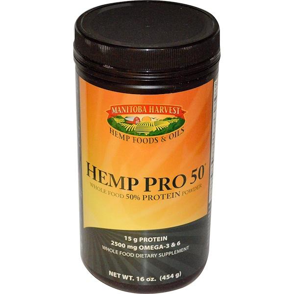 Manitoba Harvest, Hemp Pro 50, 16 oz (454 g)