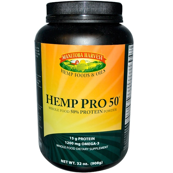 Manitoba Harvest, Hemp Pro 50, Whole Food 50% Protein Powder, 32 oz (908 g) (Discontinued Item)