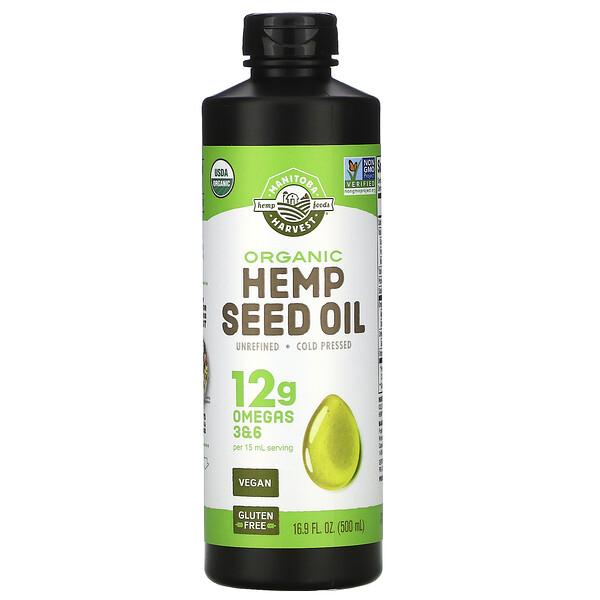 Aceite de Cáñamo con Certificado Orgánico, 16.9 fl oz (500 ml)