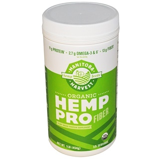 Manitoba Harvest, Organic Hemp Pro Fiber, 1 lb (454 g)
