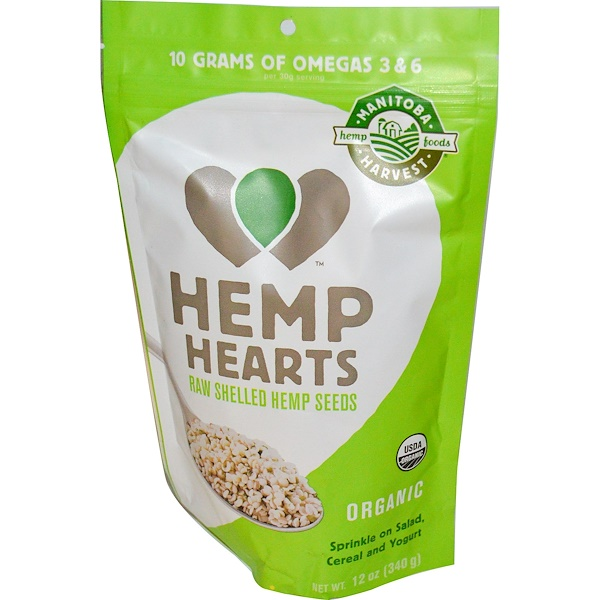 Manitoba Harvest, Hemp Hearts, Natural Raw Shelled Hemp Seeds, 12 oz (340 g)