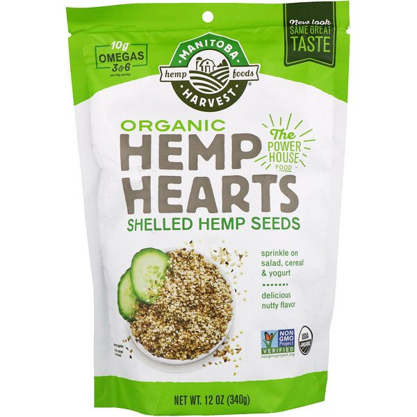 Manitoba Harvest, Organic Hemp Hearts, Shelled Hemp Seeds , 12 oz (340 g)