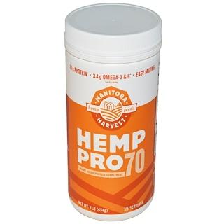 Manitoba Harvest, Hemp Pro 70, 1 lb (454 g)
