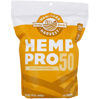 Manitoba Harvest, Hemp Pro 50, 2 lbs (908 g)