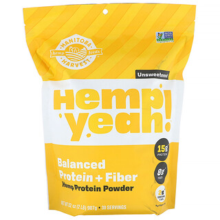 Manitoba Harvest, Hemp Yeah!, Unsweetened, 2 lbs (907 g)