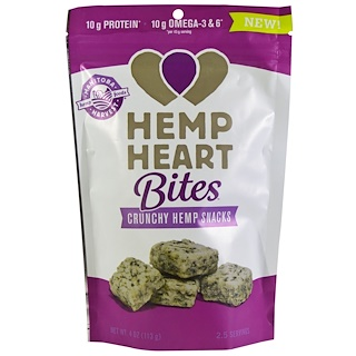 Manitoba Harvest, Hemp Heart Bites, Crunchy Hemp Snacks, 4 oz (113 g)