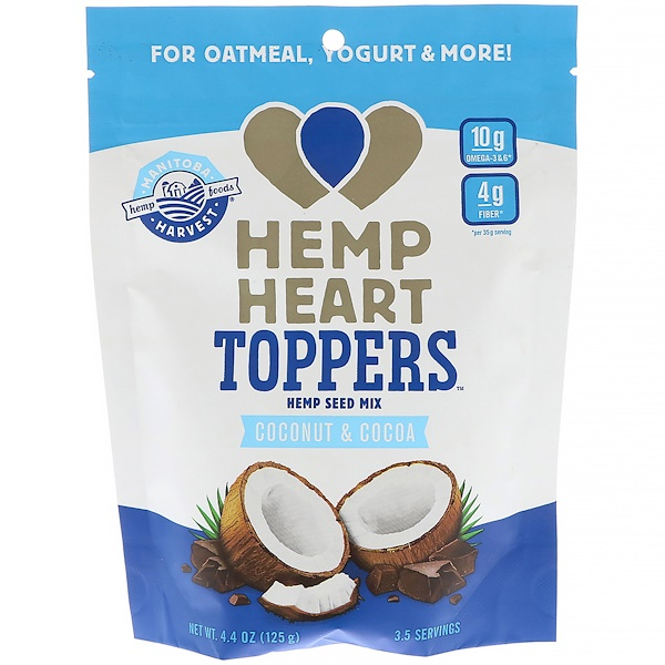 Manitoba Harvest, Hemp Heart Toppers, Hemp Seed Mix, Coconut & Cocoa, 4.4 oz (125 g) (Discontinued Item)