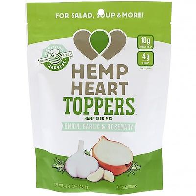 Manitoba Harvest Hemp Heart Toppers, Hemp Seed Mix, Onion, Garlic & Rosemary, 4.4oz (125 g)