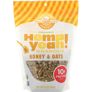 Manitoba Harvest, Hemp Yeah! Organic Granola, Honey & Oats, 10 oz (283 g)