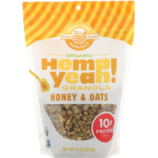 Manitoba Harvest, המפ יה גרנולה, דבש ושיבולת שועל אורגניים, 10 oz (283 גרם) (Discontinued Item)