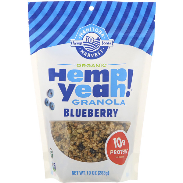 Hemp Yeah! Organic Granola, Blueberry, 10 oz (283 g)