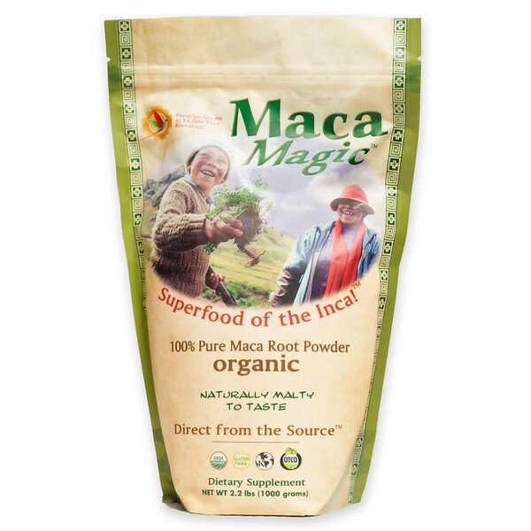 Organic, 100% Pure Maca Root Powder , 2.2 lbs (1000 g)