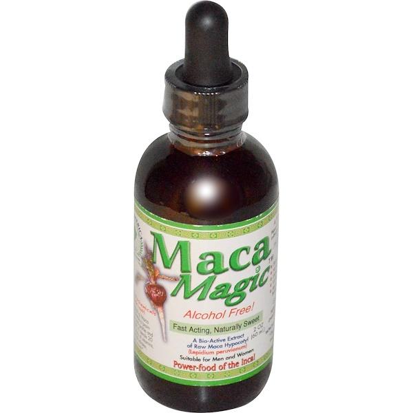 Maca Magic, A Bio-Active Extract of Raw Maca Hypocotyl,  Alcohol Free, 2 oz (60 ml)