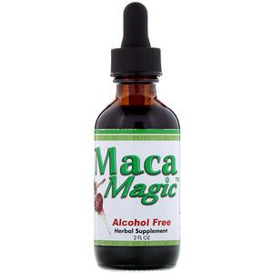 Мака Магик, A Bio-Active Extract of Raw Maca Hypocotyl,  Alcohol Free, 2 fl oz (60 ml) отзывы покупателей