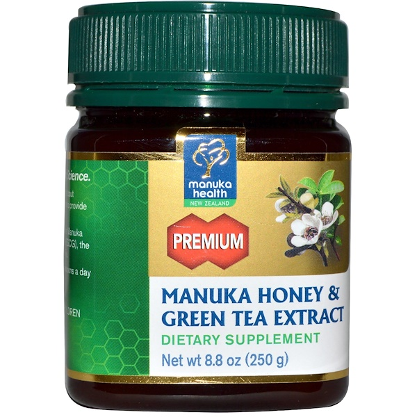 Manuka Health, Manuka Honey & Green Tea Extract, 8.8 oz (250 g) (Discontinued Item)