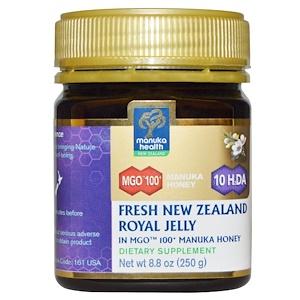 Манука Хэлс, Fresh New Zealand Royal Jelly in MGO 100+ Manuka Honey, 8.8 oz (250 g) отзывы