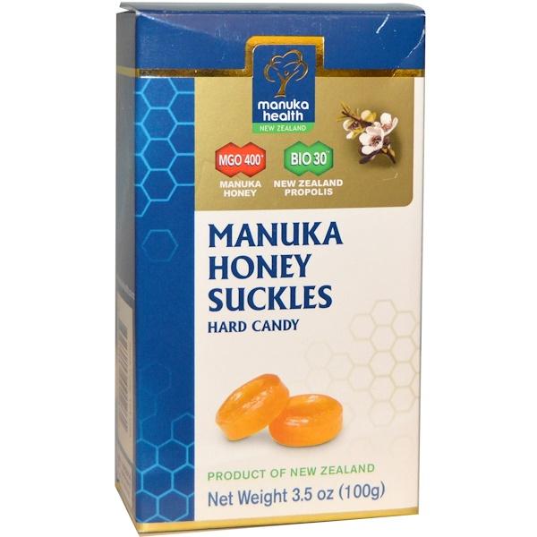 Manuka Health, Manuka Honey Suckles, MGO 400+, Hard Candy, 3.5 oz (100 g) (Discontinued Item)