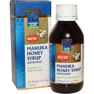 Манука Хэлс, Manuka Honey Syrup, MGO 400+, 3.5 fl oz (100 ml) отзывы