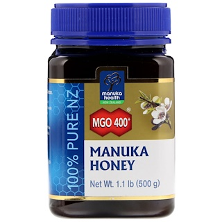 Manuka Health, Manuka Honey, MGO 400+, 1.1 lb (500 g)