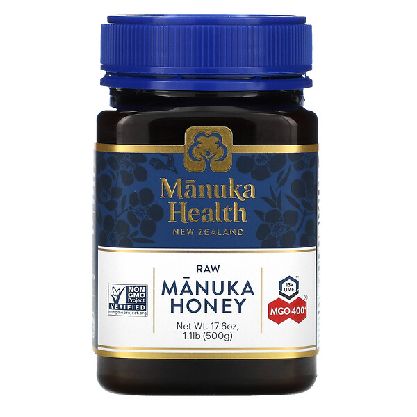 Manuka Health, Raw Manuka Honey, MGO 400+, 1.1 lb (500 g)