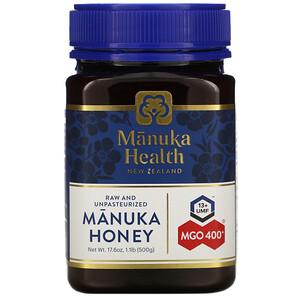Манука Хэлс, Manuka Honey, MGO 400+, 1.1 lb (500 g) отзывы