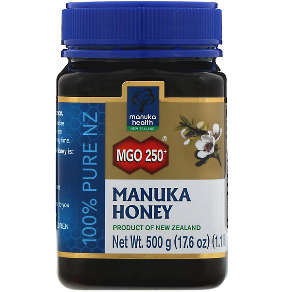 Manuka Health, Manuka Honey, MGO 250+, 1.1 lb (500 g)