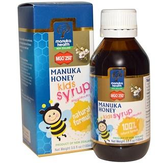 Manuka Health, Manuka Honey Kids Syrup, MGO 250+, 3.5 fl oz (100 ml)
