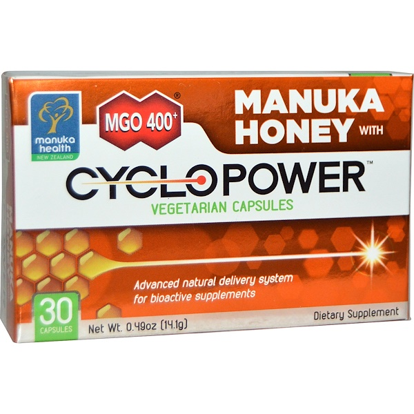 Manuka Health, MGO 400+, Manuka Honey with CycloPower, 30 Veggie Caps (Discontinued Item)