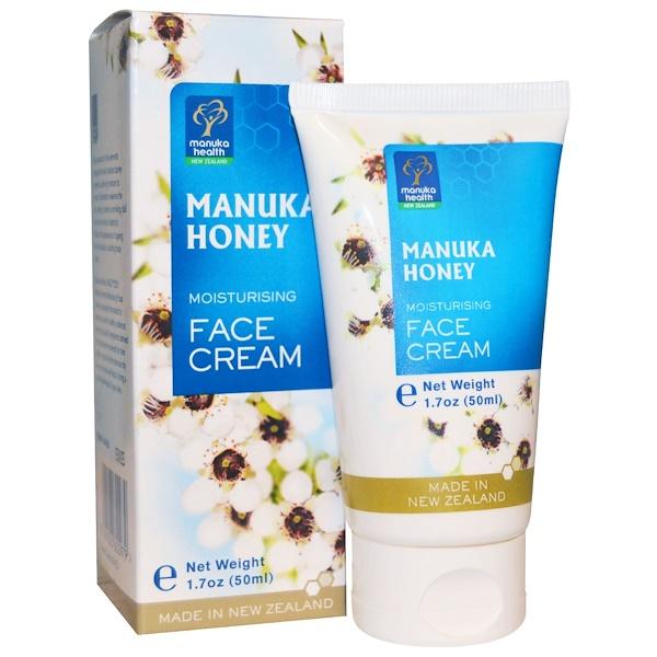 Manuka Health, Manuka Honey Moisturizing Face Cream, 1.7 fl oz (50 ml) (Discontinued Item)