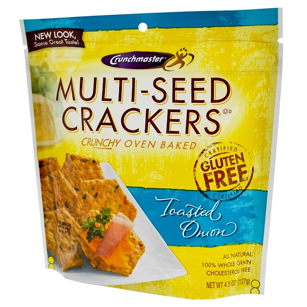 Crunchmaster, Multi-Seed Crackers, Toasted Onion, 4.5 oz (127 g) (Discontinued Item)