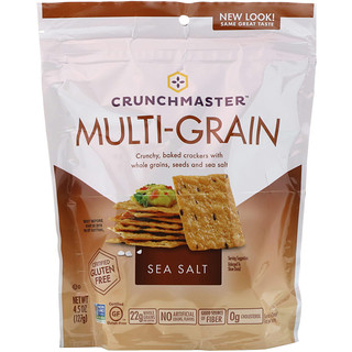 Crunchmaster, Multi-Grain Crackers, Sea Salt, 4.5 oz (127 g)