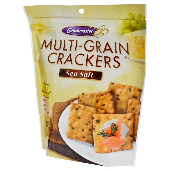 Crunchmaster, 多麥餅乾,海鹽口味,4、5盎司(127克)