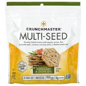 Crunchmaster, Multi-Seed Cracker, Rosemary & Olive Oil, 4 oz (113 g)